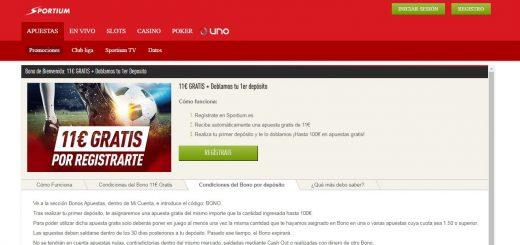 Bono de apuestas Sportium